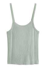 Fine-knit strappy top - Dusky green -  | H&M 2